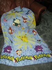 "Pokeman Pikachu Quilt 86""x62"""
