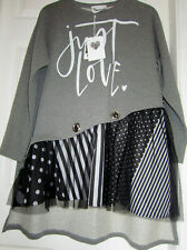 """TIMIAMI - QUIRKY TOP/DRESS - ONESIZE REGULAR -""""JUST LOVE """" BRAND NEW WITH TAGS"""