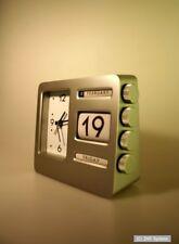 Retro USA Tischwecker, Tischuhr, Uhr mit Kalender, Edelstahl Schwer, Robust NEU