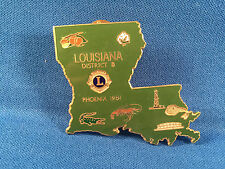 1981 LOUISIANA Distric 8 Lion's Club Pin - Phoenix 1981