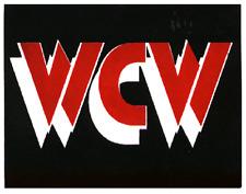 23013 WCW World Championship Wrestling Professional Bold Logo Sticker / Decal