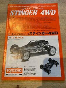 Kyosho 3041 1/10 Circuit 1000 Stinger Mk1 4WD instruction Manual