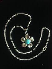 Necklace Silver Turquoise Hippie Bohemian Boho Tribal Bohemian 1017