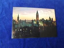 SUNSET VIEW PARLIAMENT HILL PRE STAMPED POSTCARD OTTAWA ONTARIO CANADA POST