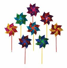 More details for plastic windmill pinwheel wind spinner lawn garden decor kids toy - pre-made