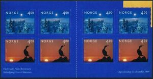 Norway 1243b booklet,MNH. 1999.Millennium:Winter Night,Bird,Sunset