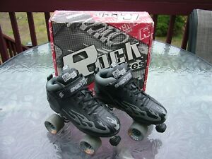 ROCK SURE GRIP SPEED FREAKS FLAME MENS ROLLER SKATES / DERBY SIZE 9