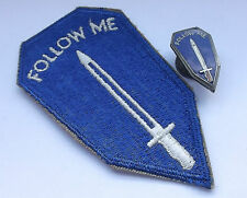 follow me   american infantry school   enamel badge and cloth patch