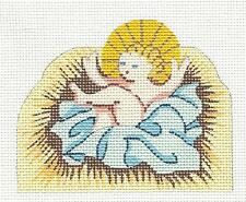 *NEW* Baby Jesus Nativity handpainted Needlepoint Canvas by Silver Needle