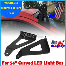 """2x Upper Mounting Brackets 54""""inch Curved LED Light Bar Fits Ford F150 2004-2014"""