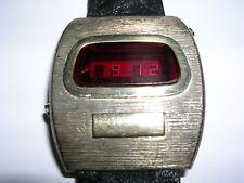 Ultra Rare Wittnauer Polara III LED Digital Watch,  Silver & 14K Gold, Working!