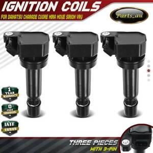 3x Ignition Coil Pack for Daihatsu Charade Cuore Mira Move Sirion YRV 1.0L EJ-DE