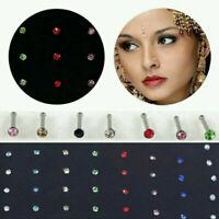 Women Men Crystal Nose Rings Lip Body Piercing Bone Ear Studs Jewelry Decoration