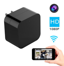 Hidden Mini Spy Camera Wall Charger WiFi Adapter Home Security Night Vision