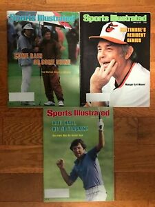 Sports Illustrated June  4,18,25 1978 Tom Watson Earl Weaver Hale Irwin Magazine