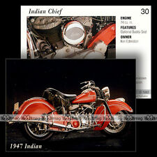 #IL30 ★ INDIAN CHIEF (1947) ★ Fiche Moto Classic Motorcycle Card