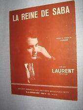 PARTITION MUSICALE FRANCE LAURENT LA REINE DE SABA