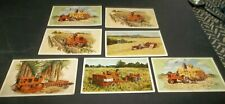 7 Vtg Allis Chalmers Advertising Postcards - Farm Equipment - all different