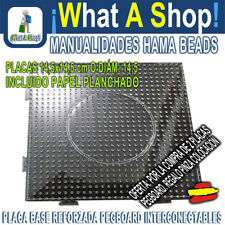 PLACA PEGBOARD HAMA BEADS MIDI 15 x 15 cm O ø14 cm INTERCONECTABLES TRANSPARENTE