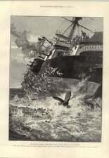 1893 testigo Sketch la victoria zozobra después de colisión