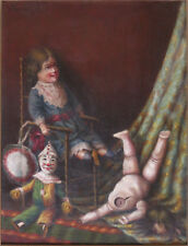 Sigmund Krausz  Wonderful, Fantastical Old Oil Painting