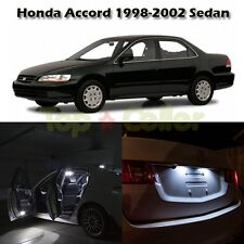 White Light LED Interior Package Kit For Honda Accord 1998-2002 Sedan