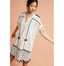 NWT Anthropologie Hemant & Nandita Aditya Embroidered Tunic Dress XS