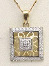 Round Cubic Zirconia Yellow Gold Fine Necklaces & Pendants