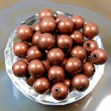 Wholesale 200/1000 Pcs Smooth Round Metal Copper Spacer Beads 3 6 8mm
