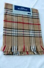 """BNWT Vintage Brown Check Scarf by Tesco 48"""" x 10"""" inches"""