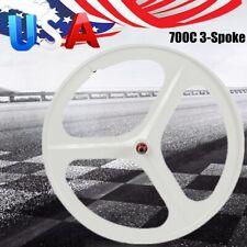 700C 3Spoke Fixed Gear Wheels Single Speed Fixie Bicycle Wheel Clincher Type Set