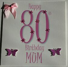 PERSONALISED HANDMADE MUM GRAN NAN 40th 50th 60th 70th 80th 90th BIRTHDAY CARD