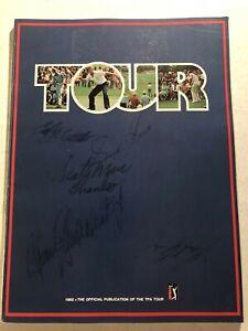 1982 PGA Tour Guide NICKLAUS Arnold PALMER Tom WATSON Hubert GREEN Autograph TPA