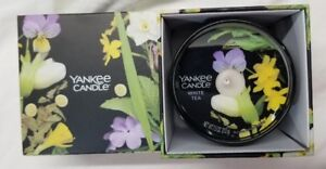 Yankee Candle Trompe L'oeil Jar Candle in Box WHITE TEA Limited Ed Wax 7.5 oz