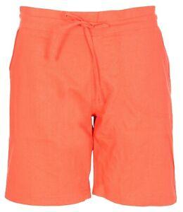 New Womens Ladies Summer Holiday Linen Plain Drawstring Shorts Hot pants Bottom