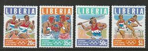 Liberia 1996 Atlanta Olympics Set UM