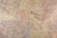 Naturstein Bodenfliese Römischer Verband Rosso Antique Travertin WBF-45-45000