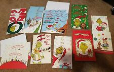 24 MISC. LOT MIXED GRINCH MAX CINDY CHRISTMAS GREETING HOLIDAY CARDS & ENVELOPES