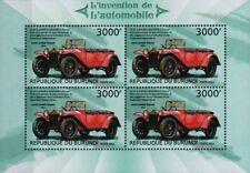 1923 LANCIA Lambda Torpedo Touring/Tourer hoja de sellos de Coche (2012 Burundi)