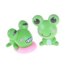2x Lovely Miniature Mini Frog Fairy Home Garden Craft Dollhouse Decoration DSUK