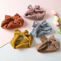 Elastic Baby Kids Warm Knitting Headband Turban Warm Bows Newborn Girl Headbands