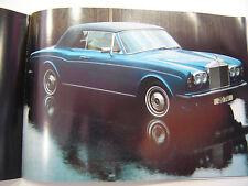brochure ROLLS ROYCE CORNICHE / 1980 / COULEURS / FRANCAIS