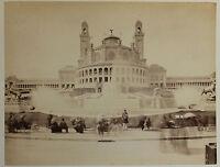 Antico Palazzo Del Trocadéro Parigi Vintage Ca 1890