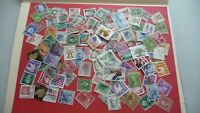 1968  - lot 100 timbres seconds USA