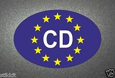 CD CORPS Diplomatic BLUE EURO STICKER bumper Seal Aufkleber Autocollant for Car