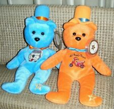 DUMB & DUMBER BEANBAG BEARS Celebrity Bears Plush #51 & #52 Mint with Tags