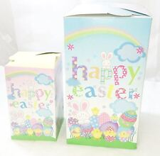 2 Cute Instant Easter Party Gift Treat Boxes Pink Ribbon Egg Hunts Loot Children