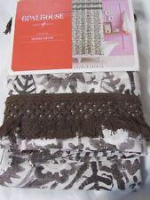 Opalhouse Fringe Trim Fabric Shower Curtain brown new #695