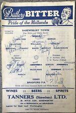 More details for shrewsbury town v bradford park avenue with 11 signatures 1961/62