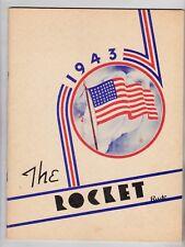 1943 Little Rock High School Year Book, The Rocket, Little Rock, Iowa